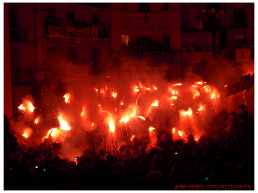 Celebración de La Patum. Berga - comarca del Berguedà