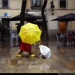 Colores bajo la lluvia - Barcelona
