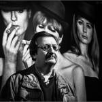 Xavier Gómez en la exposición de Leopoldo Pomés. Barcelona, 2015. © Marcelo Aurelio