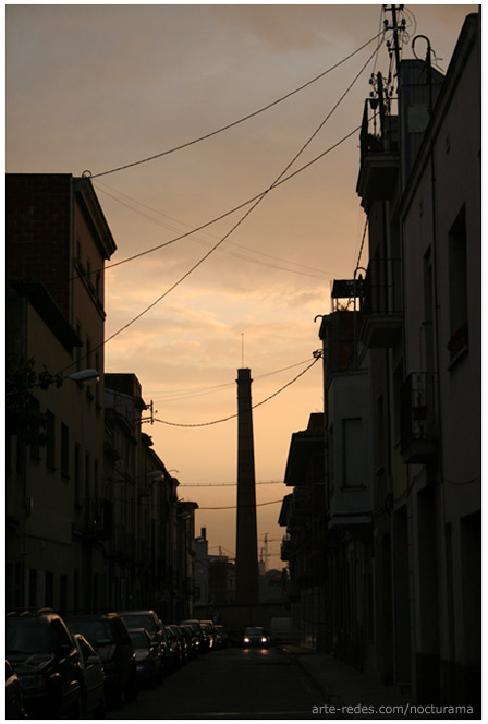 Anochece en Terrassa - Barcelona
