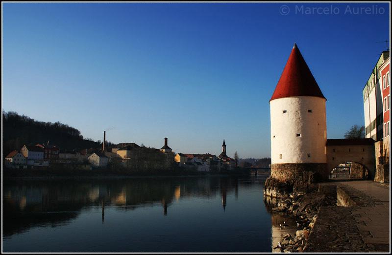 La Torre de Schaibling - Río Inn - Passau, Baviera, Alemania
