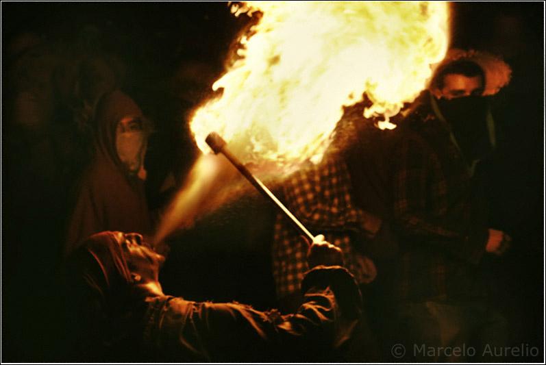 El hacedor de fuego - Raval Infernal en la Fiesta Mayor de Terrassa 2007