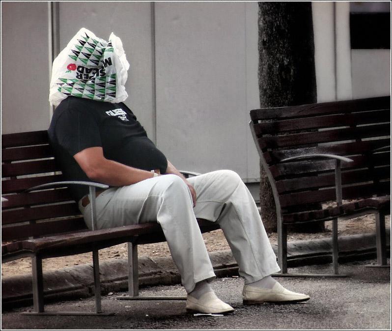 El hombre de la bolsa / El hombre del saco - Plaza Catalunya - Barcelona