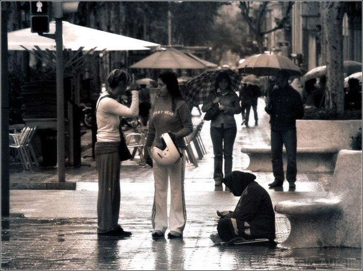 Bajo la lluvia - Barcelona