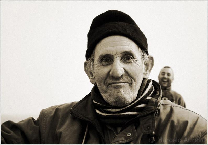 Joan y su amigo, pescadores. - Sant Adrià de Besòs - Barcelona