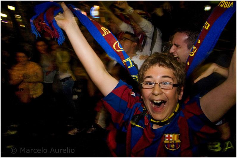 Felicidad - FC Barcelona Campeón de Liga - Rambla Canaletes - Barcelona