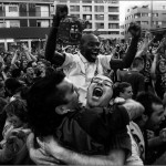 ¡¡¡ Copa, Liga y Champions !!! - Gol de Eto'o - Plaça Nova - Terrassa