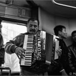 El acordeonista que me alegró el viaje. Milán.