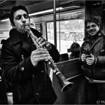Músicos en el tren - Barcelona