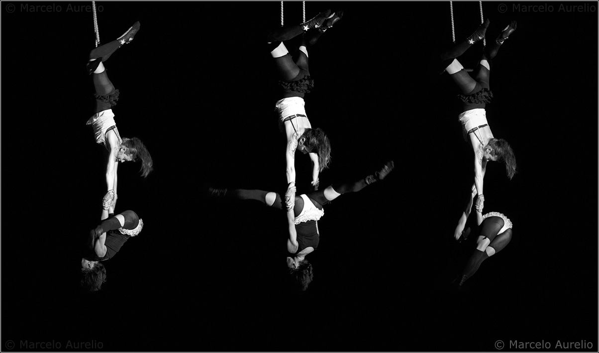 El trapecistas ensayando - Cabaret de Circo en La Fabrik 2 – Rubí – Barcelona