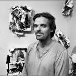 Francisco Gómez en su exposición