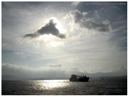 cruzando el Estrecho de Gibraltar