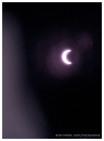 Vista parcial del Eclipse anular de sol. Vista desde Terrassa, Barcelona a las 11:16 a.m.