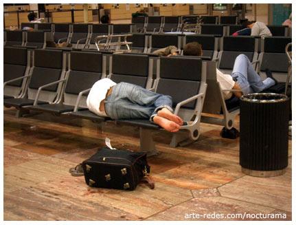 la espera es sueño, aeropuerto de Barcelona