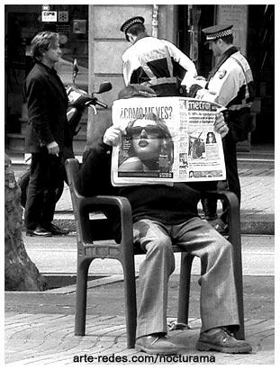 en la rambla, Barcelona.