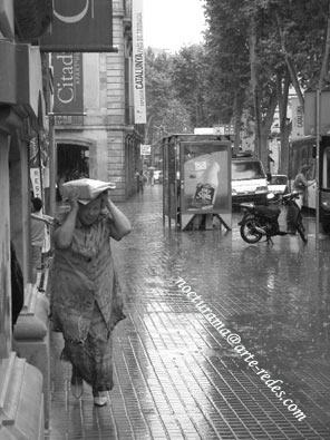 Lluvia en La Rambla