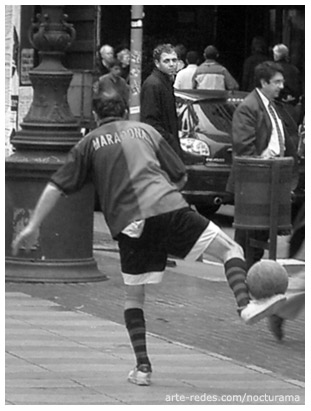 Maradona en la rambla, Barcelona