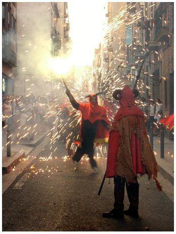 Corre foc en el Barrio de Gracia, Barcelona