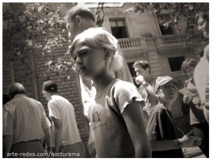 Por la rambla, Barcelona.