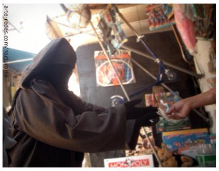 por al calle de un mercado en Casablanca, Marruecos