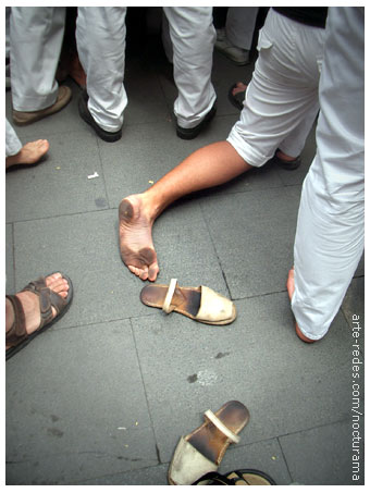 Castellers en la Fiesta Mayor de Terrassa 2005