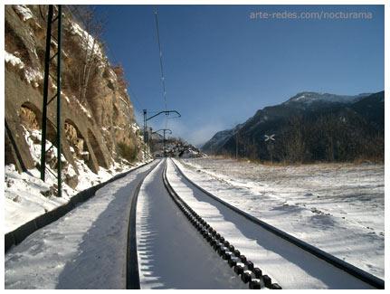 De Queralbs a Nuria, Vías del tren de Cremallera