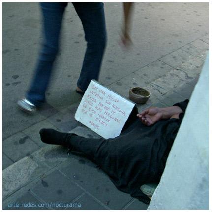 Sitges, Barcelona. - Con el camino en la mano/ como paquete del dolor - verso de Juan Gelman - Poemas de Sidney West