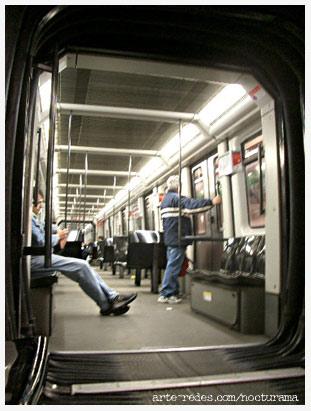 en el metro, Barcelona