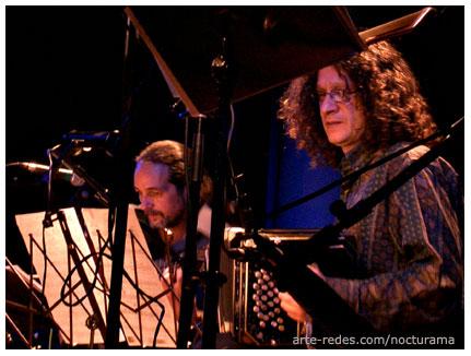 Jürgen Schwenkglenks y Quena Taborda, presentando junto a Los Gringos del Tango, el cd: PORQUE QUIERO - Porteños y Gringos