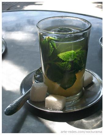 té verde, menta fresca y azúcar - Casablanca - Marruecos